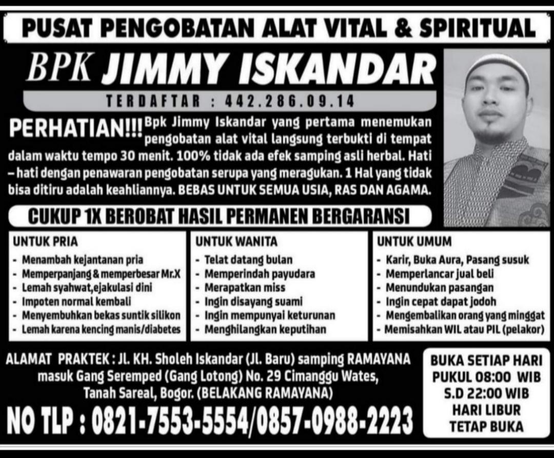 pengobatan alat vital dan spiritual di bogor